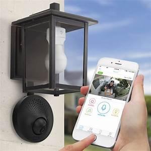 Light Socket Powered Wi-Fi Security Camera - The Green Head
