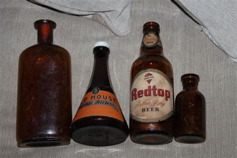 NEW PRICE Amber Brown Bottles Old House Orange Bitters