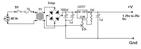 1 25v to 25v 1 5a lm317 power supply eeweb community