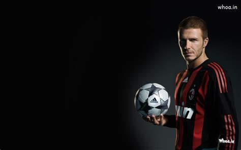 david beckham  adidas football  dark background
