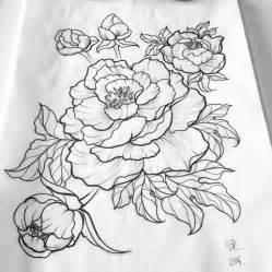 pianese flowers 33 amazing peony outline tattoos