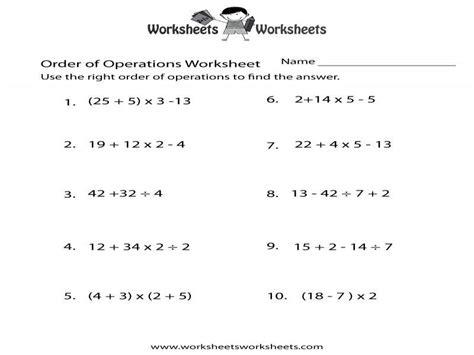 pemdas worksheets homeschooldressage
