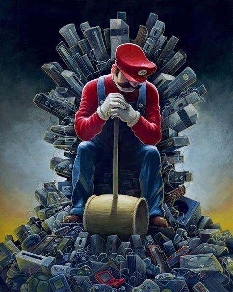 Super Mario Game Of Thrones Crossover Iron Throne