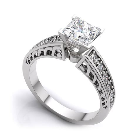 vintage princess cut engagement rings diamondstud
