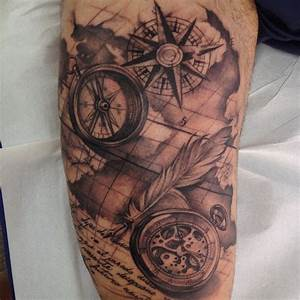 compass, pocket watch, old sailor map | Melina Villaverde ...