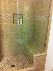 Shower Benches by Custom Tile Shower With Bench Seat Yelp