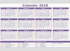 New Year Calendar 2018 Printable With Indian Holidays