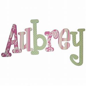 aubrey pink green hand painted wall letters With hand painted wall letters