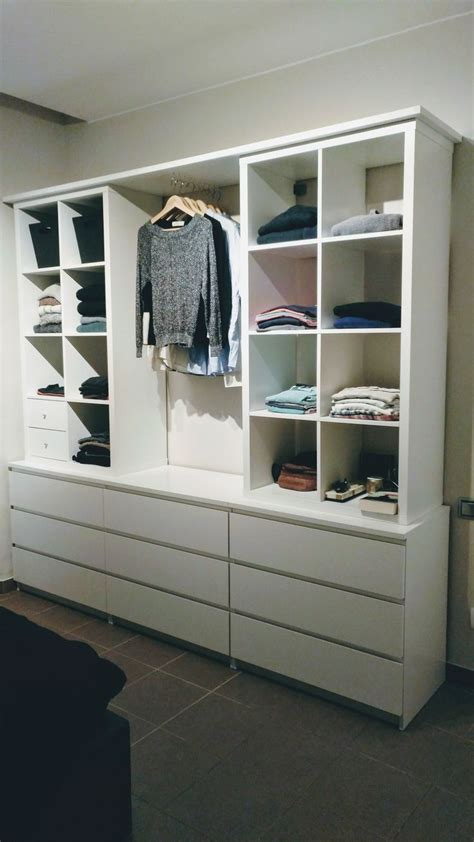 armario abierto  kallax  malm bedroom pinterest