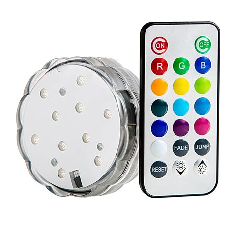 submersible rgb led accent light w remote led candle