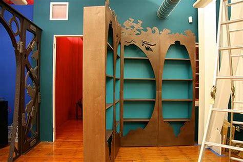Passage Bookcase by 10 Kick Secret Passage Bookshelves