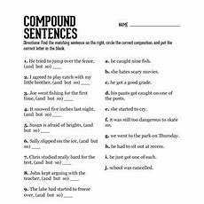 18 Best Images Of Compound Sentences Worksheet 3rd Grade  Compound Words Worksheets Sentences