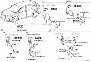 Lexus Rx 450h Wire  Skid Control Sensor  Rear Left No  2