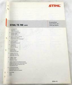 Stihl Ts 700 Spare Parts List Manual Oem Illustrated Pre