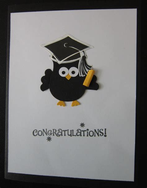 graduation card stampin  owl punch eulen