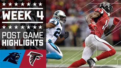 panthers  falcons nfl week  game highlights youtube