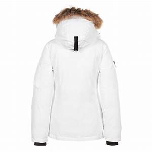 Parka Femme Vrai Fourrure : peak mountain parka femme avec vrai fourrure akadoz blanc s ~ Melissatoandfro.com Idées de Décoration