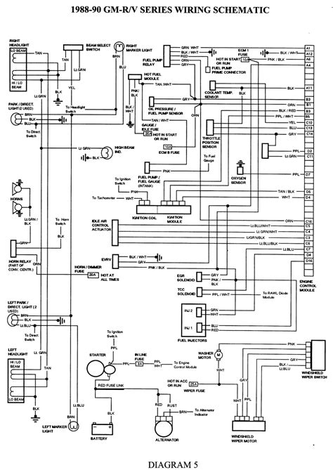 1995 Gmc Instrument Cluster Wiring Diagram by 1990 Chevy C1500 Wiring Diagram Wiring Diagram Database