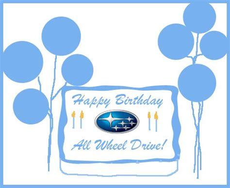 Happy Birthday Subaru by Stanley Subaru Subaru Marks 40 Years Of Awd Vehicles