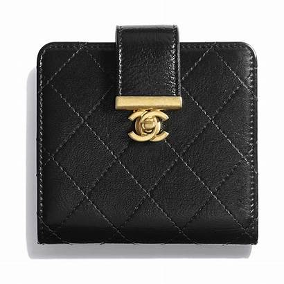 Wallet Shiny Chanel Lambskin Gold Metal Tone