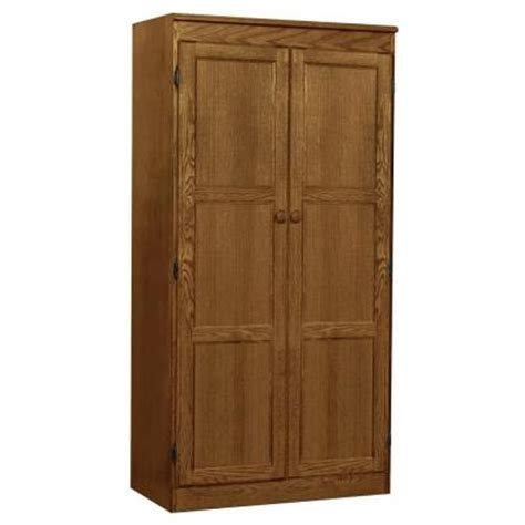 home depot cabinet wood concepts in wood multi use storage pantry in dry oak