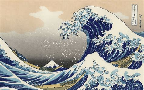 wave japanese painting wallpapers top   wave