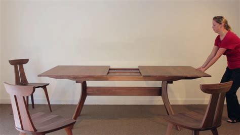 extension dining table trestle extension table vermont woods studios 4892