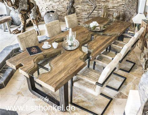 Und Esstisch by Esstisch Aus Massivholz Rohlstahl Und Glas Der Tischonkel