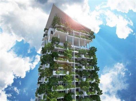 towering green residences vertical garden building