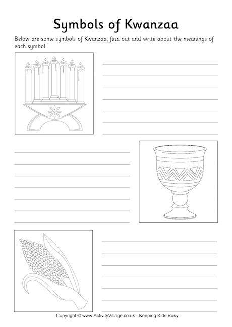 symbols  kwanzaa worksheet