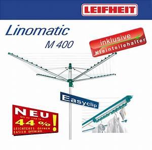 Leifheit Wäschespinne Linomatic : leifheit w schespinne linomatic m 400 easyclip neu ebay ~ Eleganceandgraceweddings.com Haus und Dekorationen