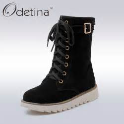 womens boots express aliexpress com buy odetina lace up ankle boots for platform boots with plush