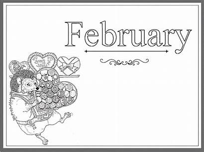 February Coloring Pages Printable Month Calendar Greepx