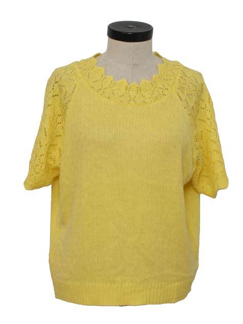 vintage  sweater  haband womens pastel yellow