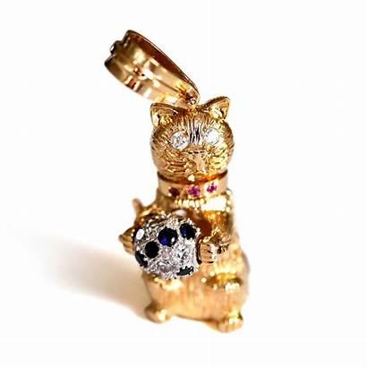 Baroque Rocks Jewellery Cut Articulated Pendant Cat