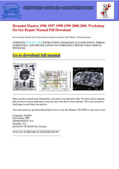 free service manuals online 1999 hyundai elantra transmission control hyundai elantra 1996 1997 1998 1999 2000 2001 workshop service repair manual pdf download by