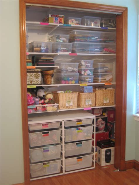 Organize Craft Closet by Craft Room Organization Gift Closet With Gifts