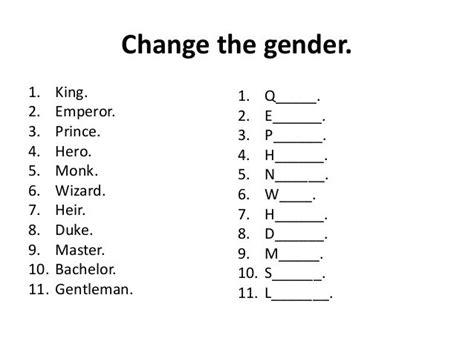 image result for gender nouns worksheets sai c nouns
