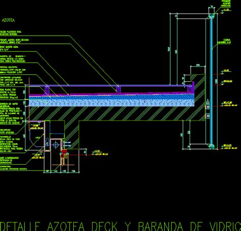 detail terrace deck  rail  autocad cad  kb