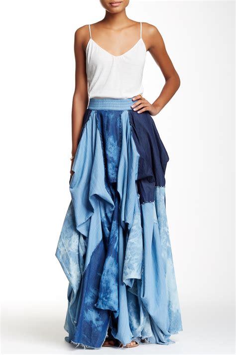 draped maxi skirt tov draped denim maxi skirt nordstrom rack