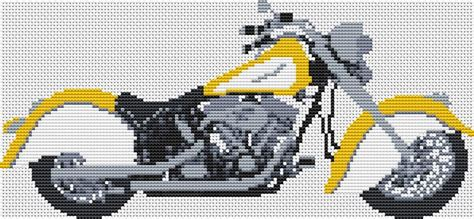 Indian Motorcycle Cross Stitch Kit And Chart