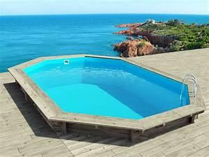 Liner Piscine Octogonale : piscine bois cancun x x m 66247 ~ Melissatoandfro.com Idées de Décoration