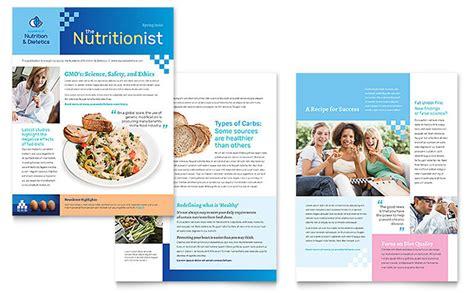 newsletter design dietitian newsletter template design