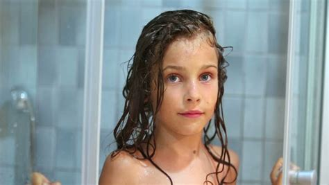 Little Girl Closes Shower Unit Stock Footage Video Royaltyfree Shutterstock