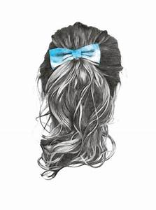 Sketch Of Long Hair With Bow Pictures, Photos, and Images ...