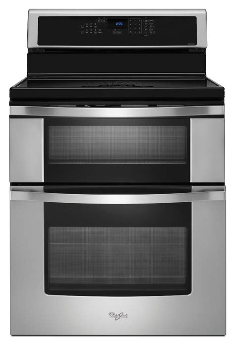 whirlpool wgicbs  electric range  induction cooktop double oven stainless steel