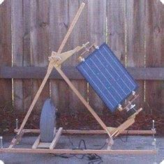 small scale solar trackers  diy solar bicycle rack