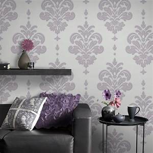 Graham & Brown Lilac Olana Wallpaper