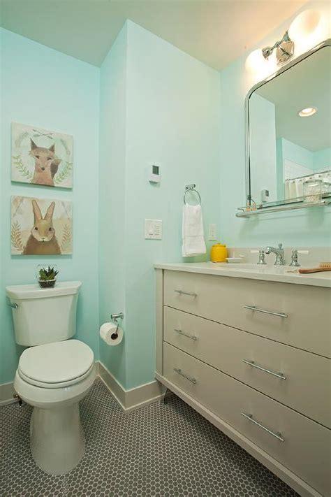 Gray And Aqua Bathroom by Gray And Turquoise Bathroom Design Design Decor Photos