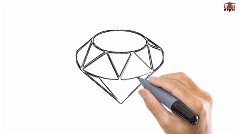 How To Draw A Diamond Easy Drawing Step By Step Tutorials